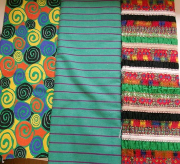 Small section of fabrics